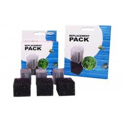 Carbón + Foamex 2U. para Filtros de Acuario